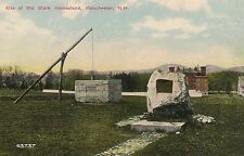 Site of Old Stark Homestead Manchester NH Postcard