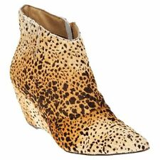 Matisse Nugent Leopard Calf Hair Leather Ankle Boots Booties Sz 8 Great !