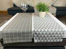 Table Runners, Set of 2, Lined, Geometric Design
