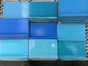 matching Cove Base Tile Blue Green Pink Yellow Tan Black Grey 3 3/4 or 4 1/4 x 6