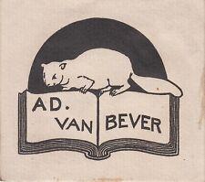 § EX-LIBRIS DU BIBLIOGRAPHE ADOLPHE VAN BEVER (1871-1927) §