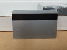 Silver PVC Cards w/ HiCo 3 Track Magnetic Stripe - CR80.30 mil - Pack of 10 Seal