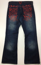 Royal Lineage women's Jeans size 13 x 31 Embellished Mid-rise Boot cut #D790