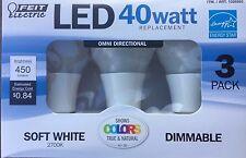 40watt LED Soft White 2700K Dimmaable bulbs Great for lamps Pack of 3