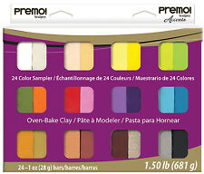Premo sculpey Oven Bake Polymer Clay, 24 piece Sampler Set, Kids, Crafts