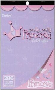 Darice Sticker Book, 9.5 by 6-Inch, Pretty Pretty Princess, 286-Pack