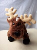 "GANZ Webkinz Plush Reindeer Deer Stuffed Animal 8"" Brown NO CODE Soft Lovey"