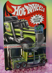 2017 RLC Hot Wheels Collector LONG GONE Semi truck redline real riders Factory