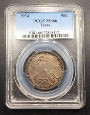 1934 Texas Comm. Half Dollar PCGS MS-66, Buy 3 Get $5 Off!! R6736