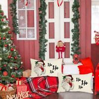 Christmas Pillow Pillowcase Red Black Buffalo Plaid Cushion Cover. Plaid M9O7
