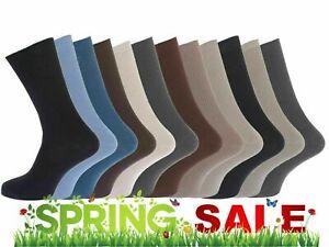 Mens 100% Cotton Rib Classic SOCKS Size 6-11 Soft Top Pack of 3,6,9,12 Black