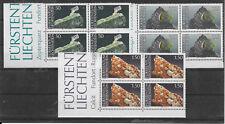 i468 LIECHTENSTEIN/ Mineralien MiNr 981/83 ** 3 Viererblöcke