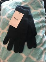 Theory Soft 100% Cashmere Gloves NEW One Size Green G098002R
