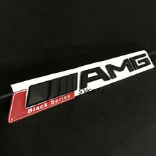 BLACK SERIES MATT RED AMG ABS BOOT BADGE EMBLEM FOR MERCEDES BENZ C CL CLK S S