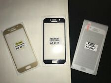 For Samsung A5 2017  Full Cover Tempered Glass Screen Protector Gold Soft Trim