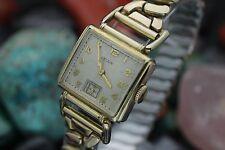 C. 1940 Vintage ELGIN Cal. 519 10K Gold Filled Flex Lug Driver's Watch w/ Box
