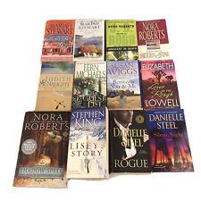 Lot Of 12 Paperback Books Romance & Suspense Stewart Steel King Roberts & More
