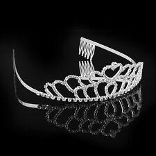 Crystal Rhinestone Crown Wedding Bridal Bridesmaid Tiara Headband Lady