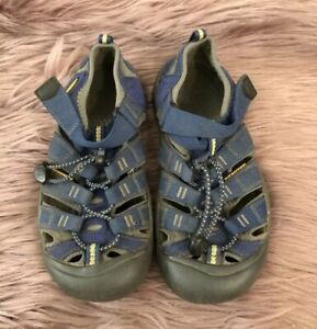 KEEN Newport H2 Waterproof Sport Sandals Blue Shoes Youth Kids 2 US GUC