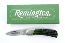 Remington Green Jigged Bone Handle 1 Blade Folding Mini Pocket Knife