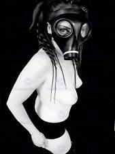 Fotografía de retrato Niña Máscara de gas Fetish espeluznante fresco de impresión de arte poster MP5638B