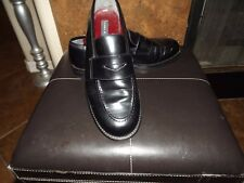 Tommy Hilfiger Polished Black Leather Loafer Dress Casual Shoes - MADE IN ITALY!