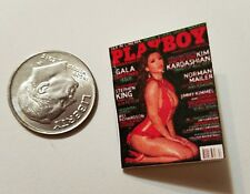 "Miniature Dollhouse book magazine 1"" 1/12 scale Playboy Kim Kardashian  Black"