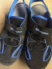 Boys Champion Black & Blue Fisherman Sandals Shoes-sz 5 Youth