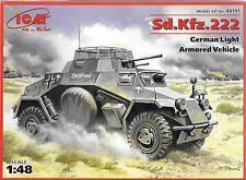 1/48 ICM 48191 - GERMAN WWII Sd.Kfz.222 German Light Armored Vehicle  Model Kit
