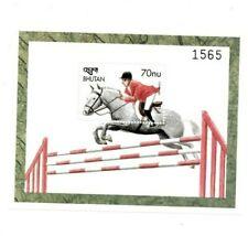 SPECIAL LOT Bhutan 1999 1258 - Horses - 25 Souvenir Sheets - MNH