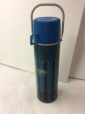 Vintage 3 Piece Blue Black Thermos Handle Insulated 1971 Model 2410 Rare