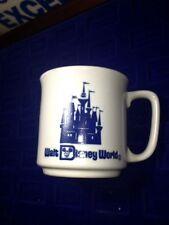Rare Vintage Walt Disney World Coffee Cup Mug Cobalt Blue Japan Castle Souvenir