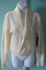 RALPH LAUREN $179 100% Lambs Wool Tundra Cream Sweater Shrug sz Large NWT