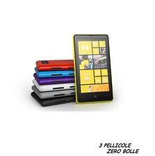 3 Pellicola OPACA per Nokia Lumia 820 Protettiva Pellicole MATT ANTIRIFLESSO