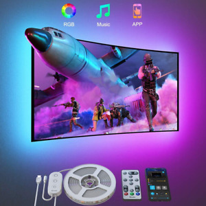 LED Strip Lights Backlights 9.8 Ft App Remote Control Music Sync 46-60 Inch TV