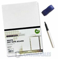 Premier A4 Drywipe Whiteboard Set. Free Slim Marker Pen & Mini Eraser! - 88072
