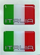 2x 3D Domed Italy Flag Stickers Italia Tricolore for Car Motorcycle Helmet Door