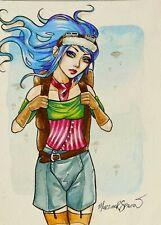 ORIGINAL ARTWORK FANTASY GOTHIC STEAMPUNK GIRL  by MORTIMER SPARROW