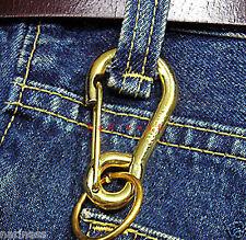 "KeyChain CARABINER  Keyring (Solid Brass) Hooks 2.5"" (#129)st2"