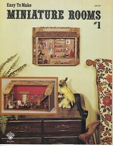 Easy to Make Miniature Rooms #1 Dollhouses VTG How To Instruction Book Patterns