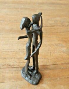 Cast iron Couple Lover's embrace cuddling Lovers Ornament Figurine UK seller