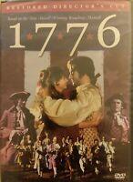 1776 DVD Restored Directors Cut WideScreen OOP 2002 TONY Musical-Based NEW fr/sh