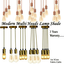 Vintage Ceiling Multi Way Pendant Braided PVC Cable Lamp Holder Fitting Light