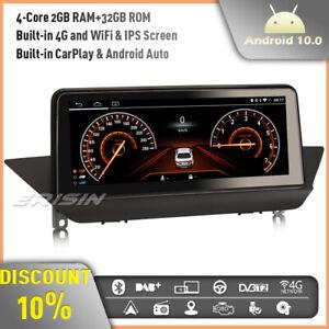 "10.25"" Android 10 Car Stereo DAB+ GPS Sat Nav BMW X1 E84 CIC CarPlay IPS 4G WiFi"