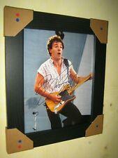 Bruce Springsteen Firmado fotografía {8 X 10} firma impresa; Enmarcado