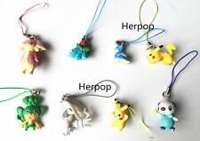 anime Pokemon keychain Pendant strap Pikachu Figures 8pcs/lot Free Shipping