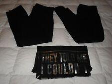 LOT 3 JUNIORS CLOTHES 2 FOLD OVER YOGA BAND WAIST LEGGING PANTS XL TOP SHIRT XXL
