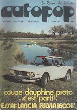 AUTOPOP 9 1972 LANCIA FULVIA 1600 HF INFERNAL RALLYE MONTE CARLO CHAMONIX SERRE