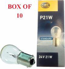 10 X QUALITY HELLA  BULB P21W BA15S 24V INDICATOR STOP REVERSE FOG LIGHT HB 241