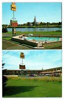 1950s/60s Driftwood Motel, Idaho Falls, ID Postcard
